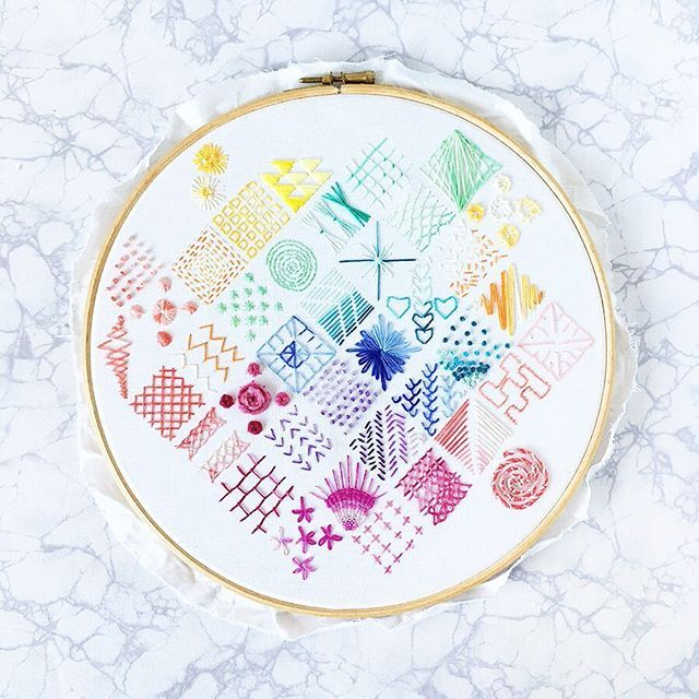 My Embroidery Sampler Pattern For This Geometric Design Is Now