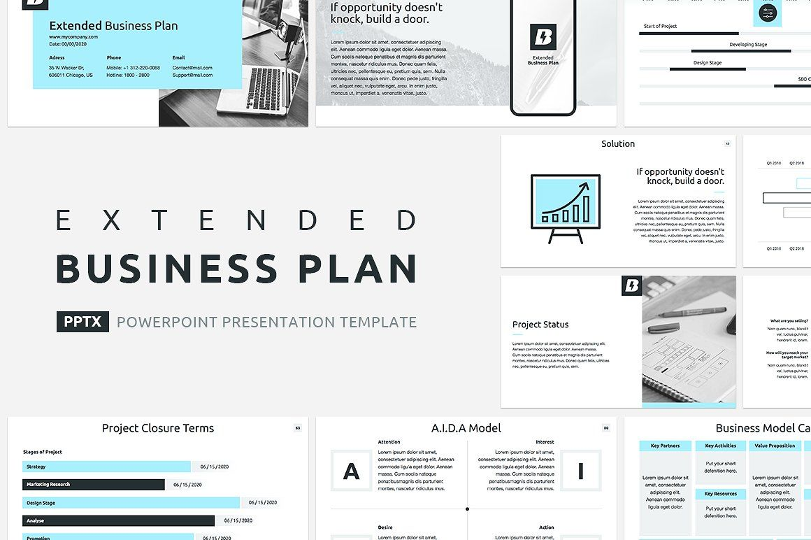 Extended Business Plan Powerpoint Business Planning How To Plan