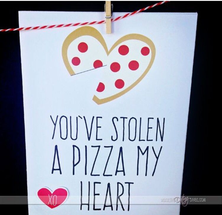 printable valentine for your sweetheart particularly great if you two are grabbing pizza together