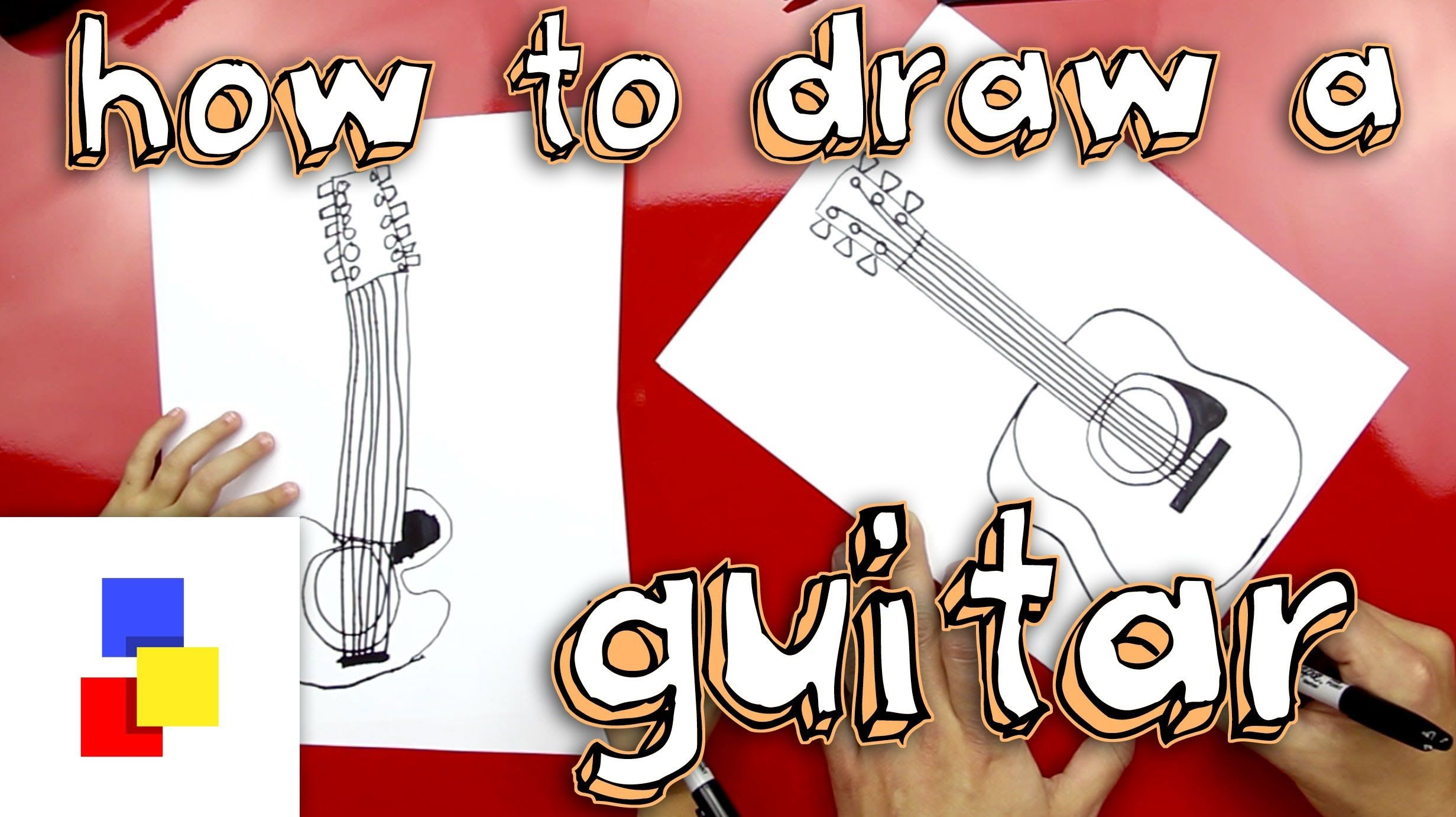 How to draw a guitar with images art for kids hub art