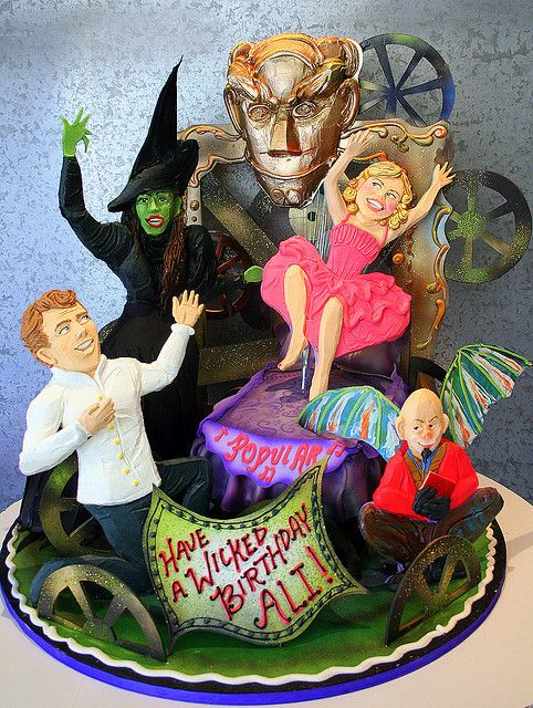 wicked the broadway musical have a wicked happy birthday ali 3 d character small cake