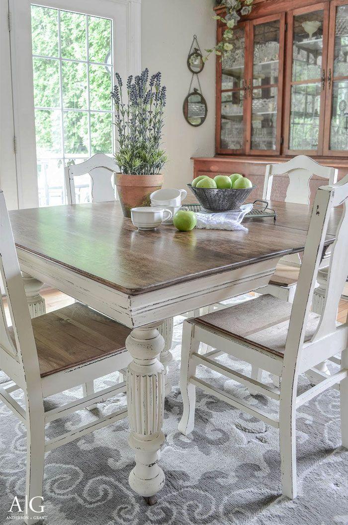Antique Dining Table Updated with Chalk Paint | Möbel verschönern ...