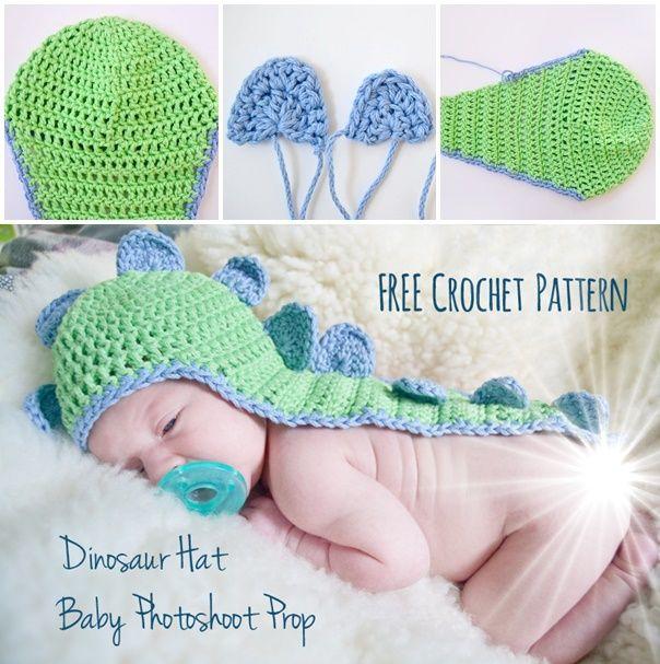 Homemade Baby Dinosaur Hat Crochet Project Homesteading - The ...