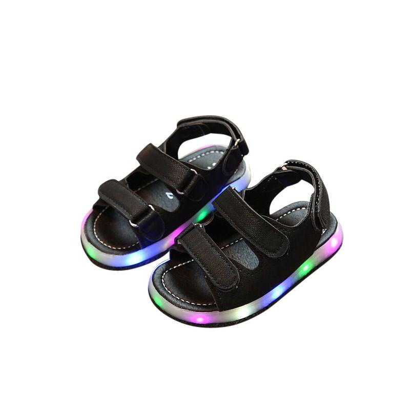 Click To Buy Summer Girls Boys Luminous Shoes Children Kids Sandals Glowing Pu Light Sandals Shoes Girls Sandals Kids Led Shoes Girls Girls Leather Shoes