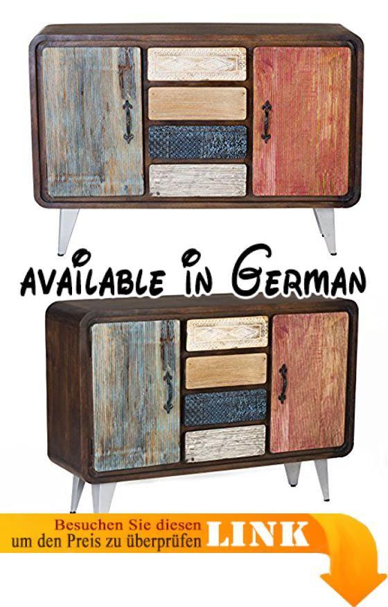 B018UNVZU2  The Wood Times Sideboard Wohnzimmerschrank Massiv