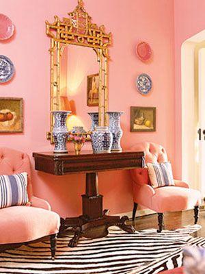 Benjamin Moore True Pink Pink Dining Rooms Pink Living Room
