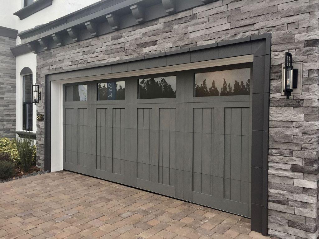 35 Lovely Home Garage Door Design Ideas Garage Door Design Garage Door Styles Modern Garage Doors