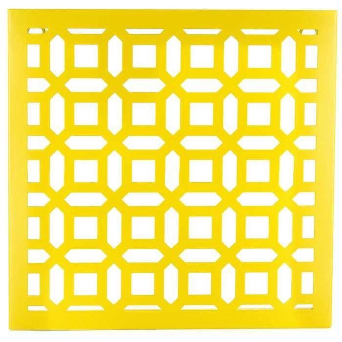 Yellow Geometric Square Metal Wall Decor | Wall Art | Pinterest ...