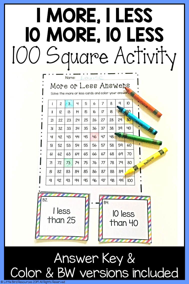 1 More 1 Less 10 More 10 Less Activity In 2021 Second Grade Math 1st Grade Math Teaching [ 1134 x 756 Pixel ]