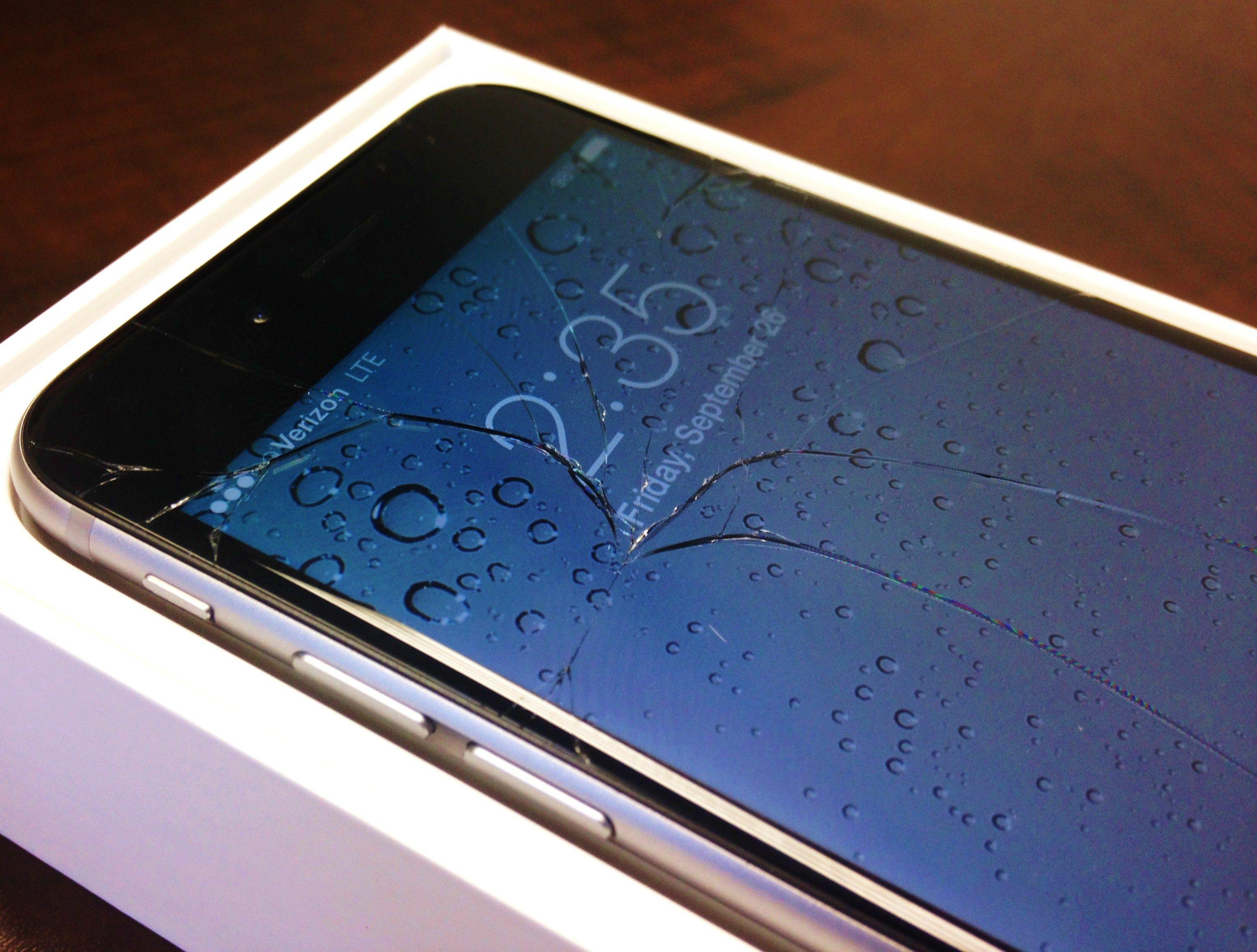 треснуло стекло на iphone 6
