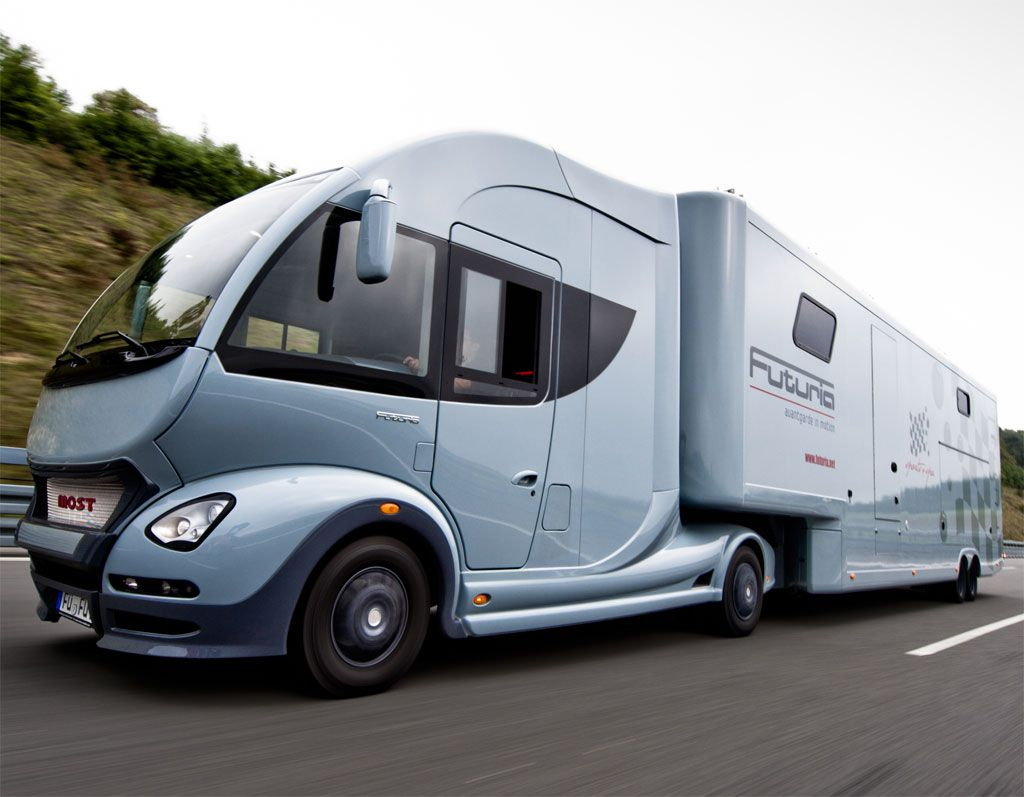 Luxury caravan with full size sports car garage from futuria - Most Futuria Motorhome Offers The Full Package