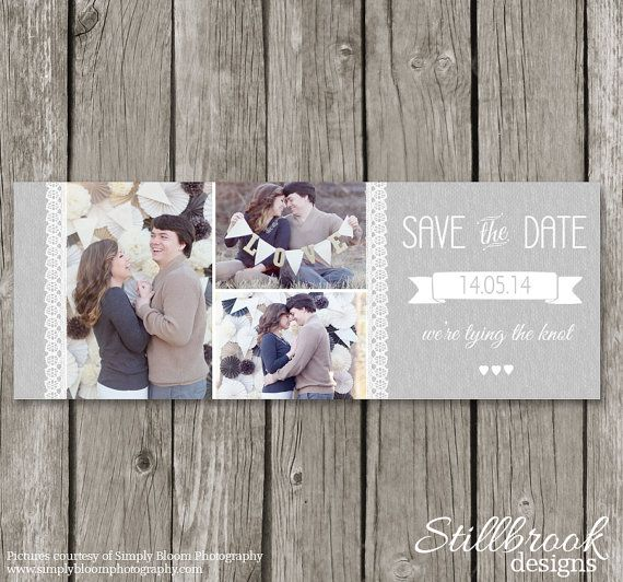 Save the Date Facebook Timeline Cover Photo - Wedding Announcement - wedding announcement template