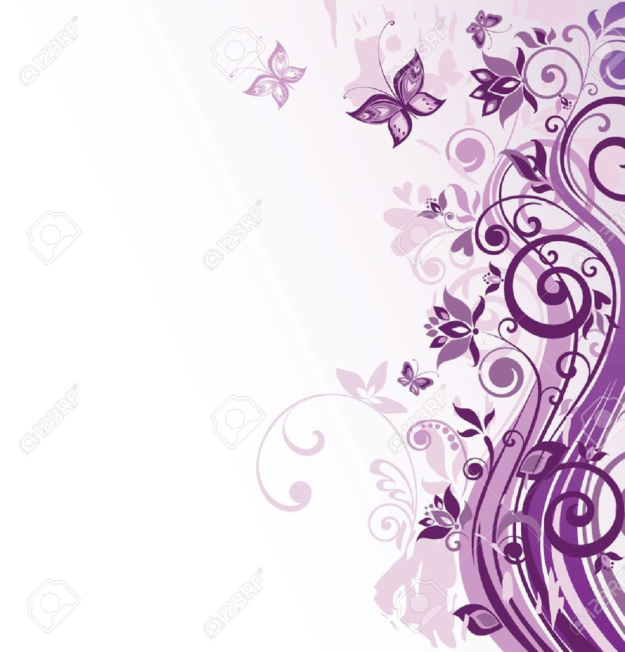 Lavender background wedding wedding invitation border for Lilac butterfly wallpaper