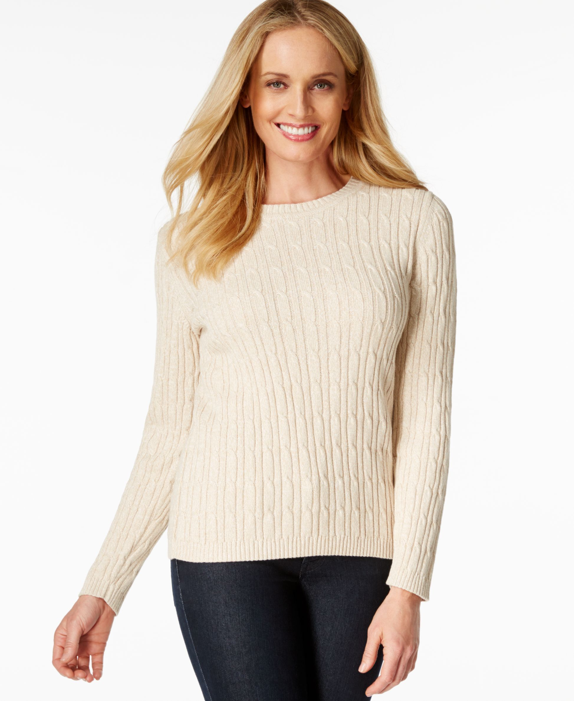 Karen Scott Marled Cable-Knit Sweater | Products | Pinterest ...