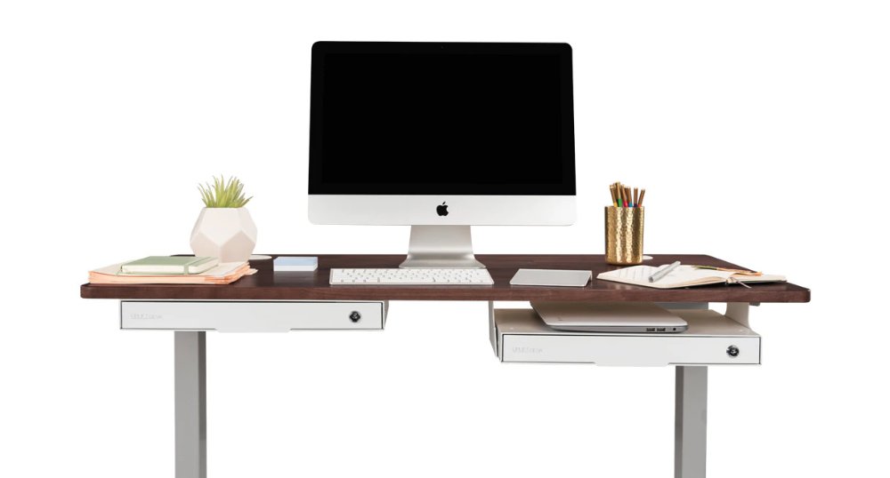 The Slim Under Desk Storage Drawer Can Be Configured In Either Of