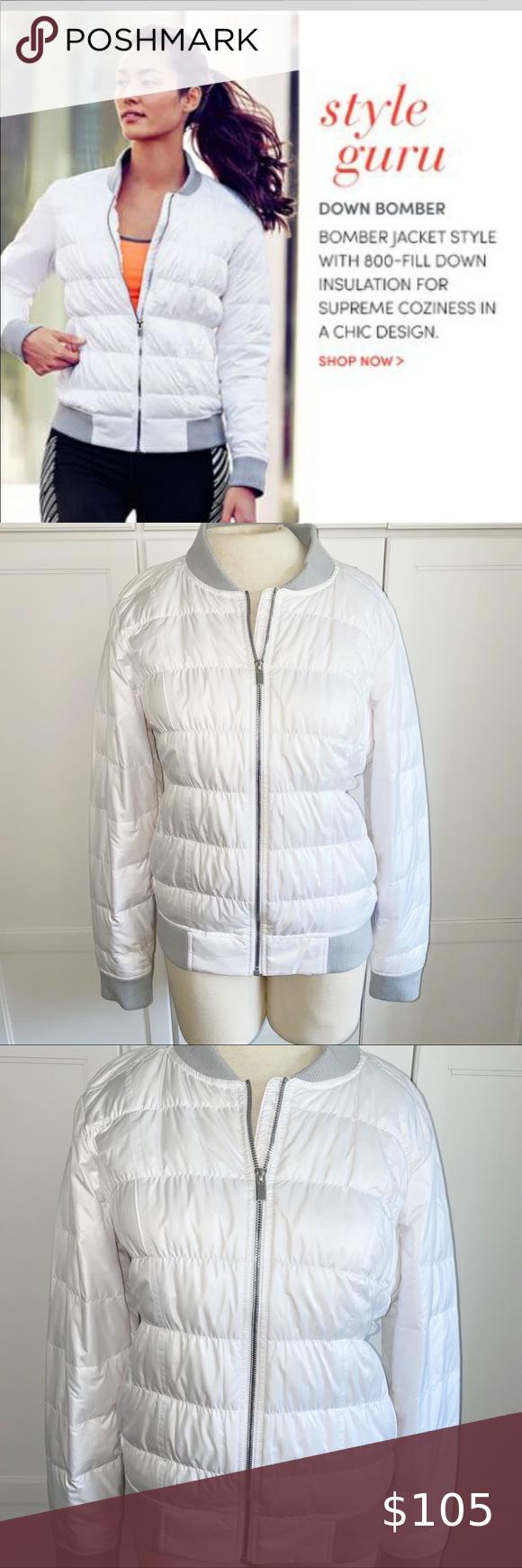 Athleta White Down Bomber Jacket Athleta White Down Bomber Jacket Bomber Style Jacket Gets Down With 800 Fill Water R Bomber Jacket Jackets Clothes Design [ 1740 x 580 Pixel ]