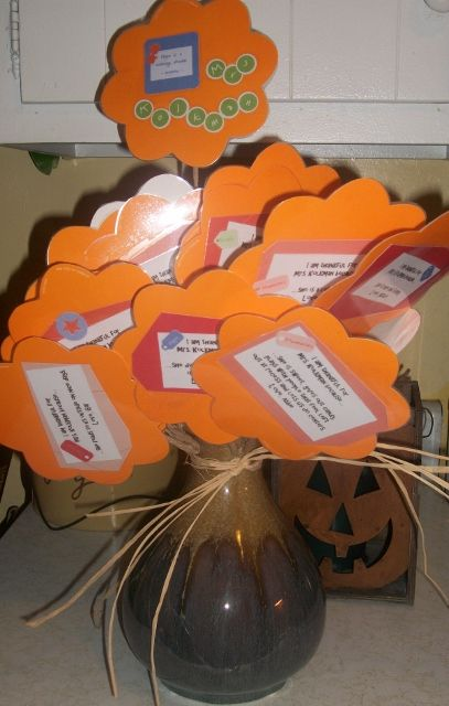 Thankful Bouquet for Teachers...ask each student in the class why they are thankful for their teacher.  Use their quotes to make a bouquet that never wilts!!!