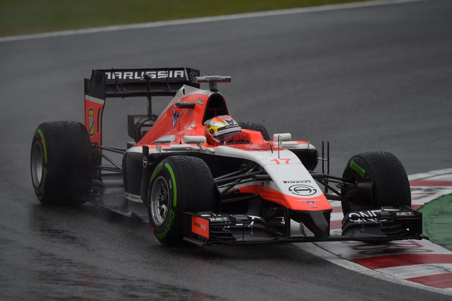 Jules Bianchi on track at the 2014 Japanese Grand Prix. #F1 before his serious accident.