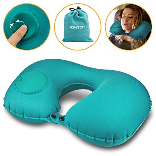 Travel Pillows For Airplanes Best Adjustable Inflatable Flying Multi