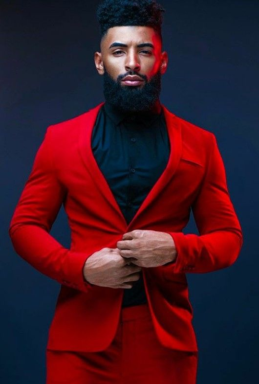 Power Of The Red Suit Prom Suits For Men Blazer Outfits Men Red Prom Suit
