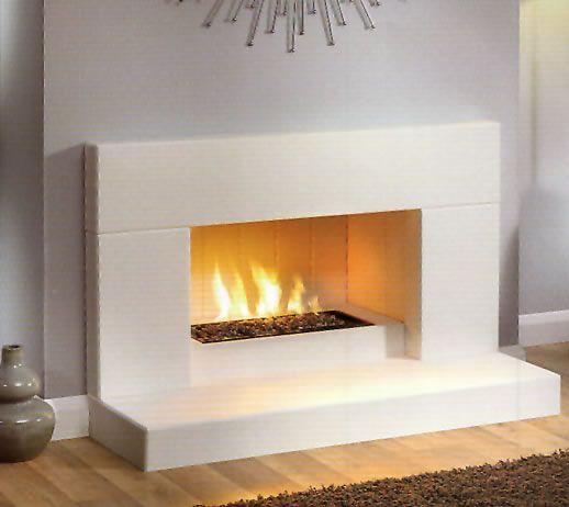 Sleek White Fireplace Gas Fireplace Makeover Modern Fireplace