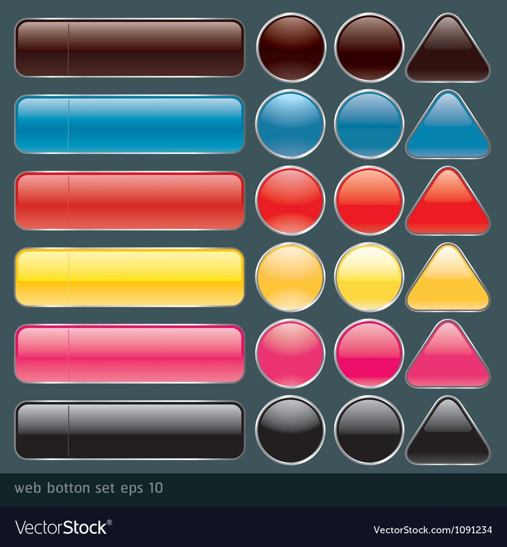 Blank buttons for website and application Vector Image ,