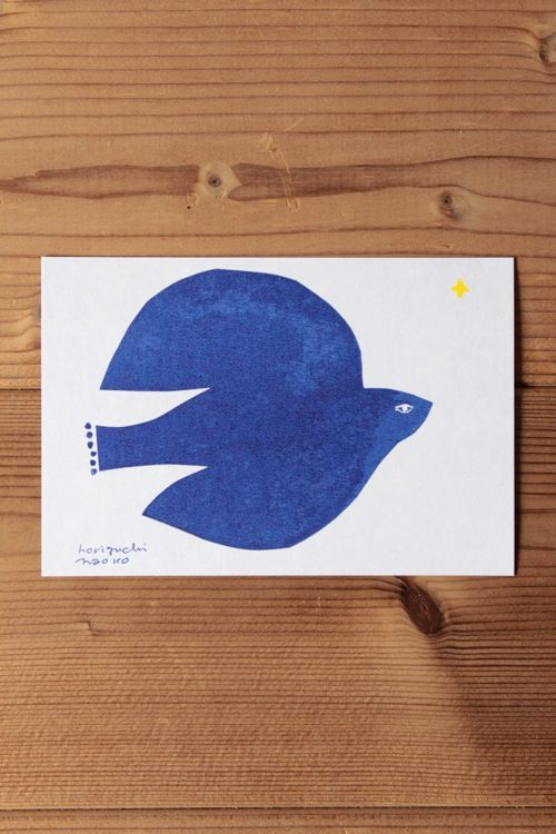 "Horiguchi Naoko post card ""Blue Bird"" 