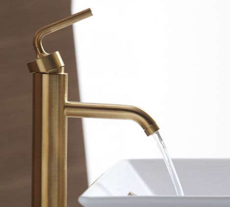 Brushed Gold Bathroom Faucets By Kohler Pinterest Gold Bathroom - Matte gold bathroom fixtures