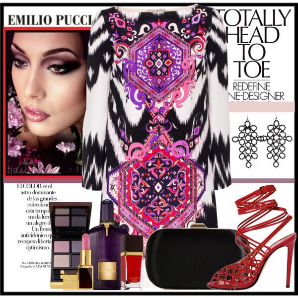 Master Of Print by castelli on Polyvore featuring moda, Emilio Pucci, Tom Ford and emiliopucci