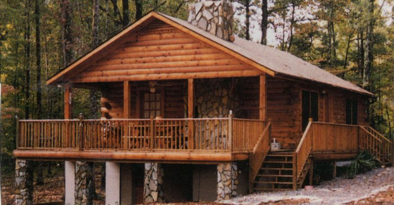 Simple log cabin from this simple story wrap for Log ranch homes