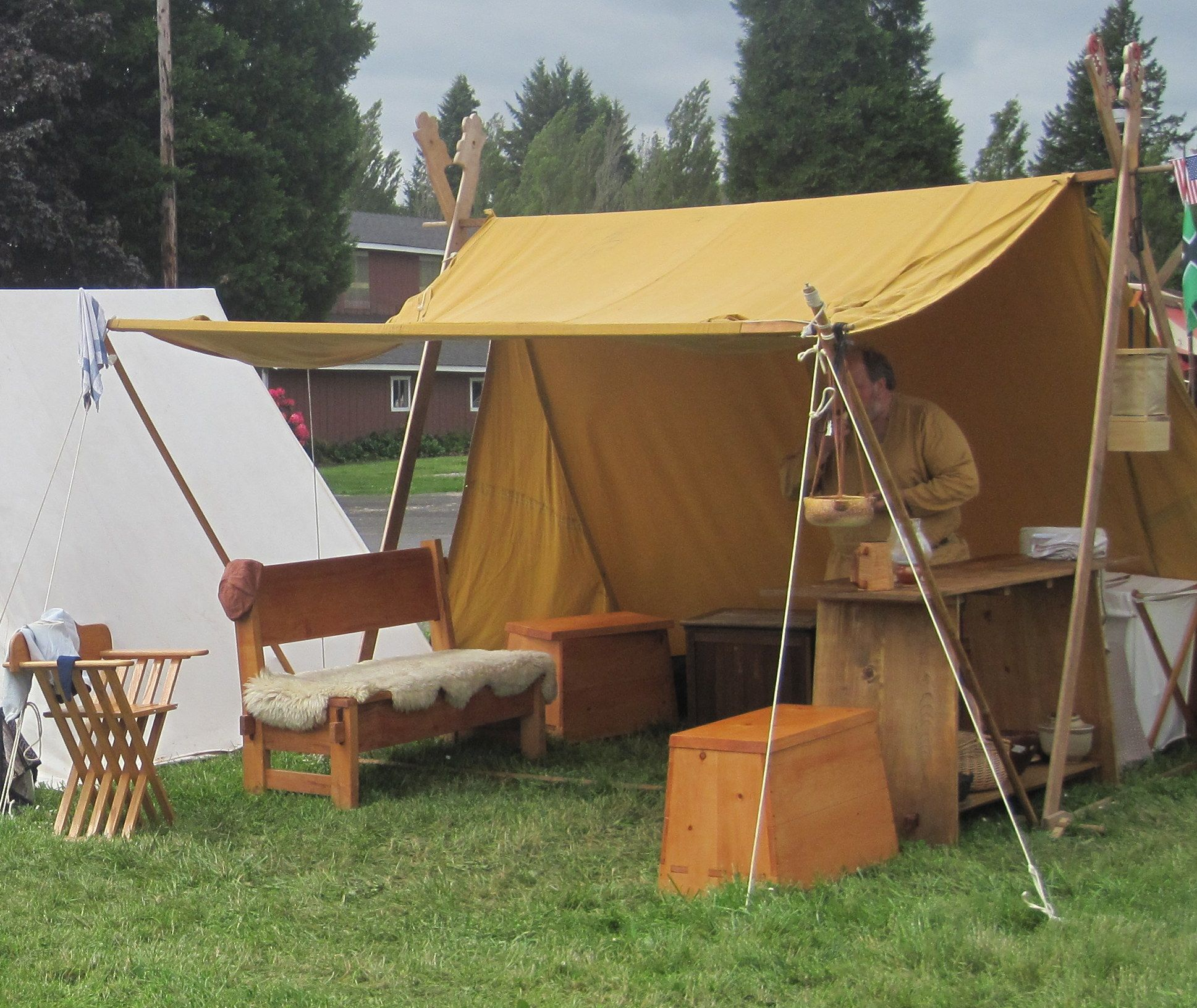 Army Kitchen Tent - Year of Clean Water