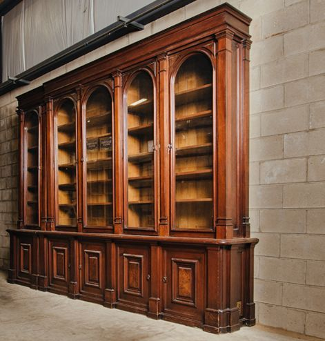Library Cabinet With Gl Doors