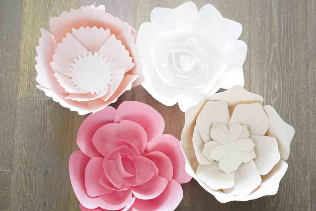 Large Paper Flower Set #largepaperflowers