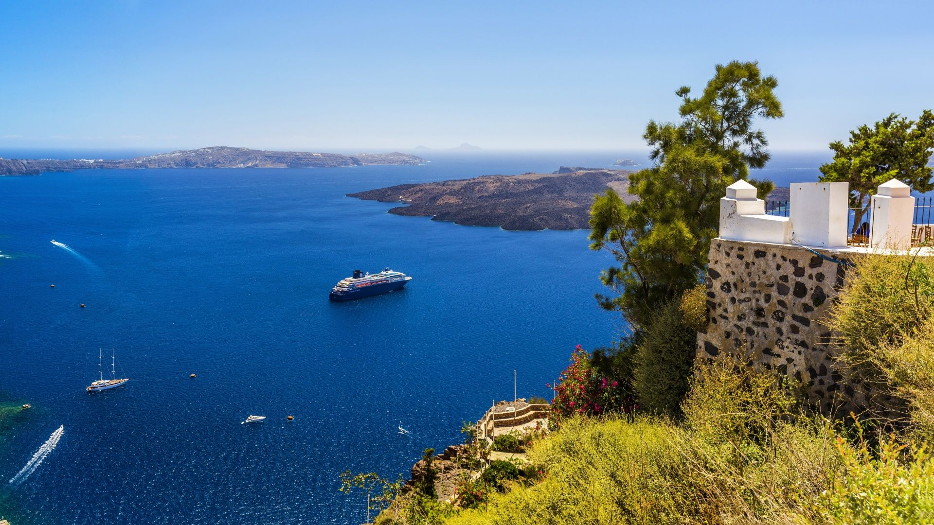 Обои греция, вид на море. Природа foto 10