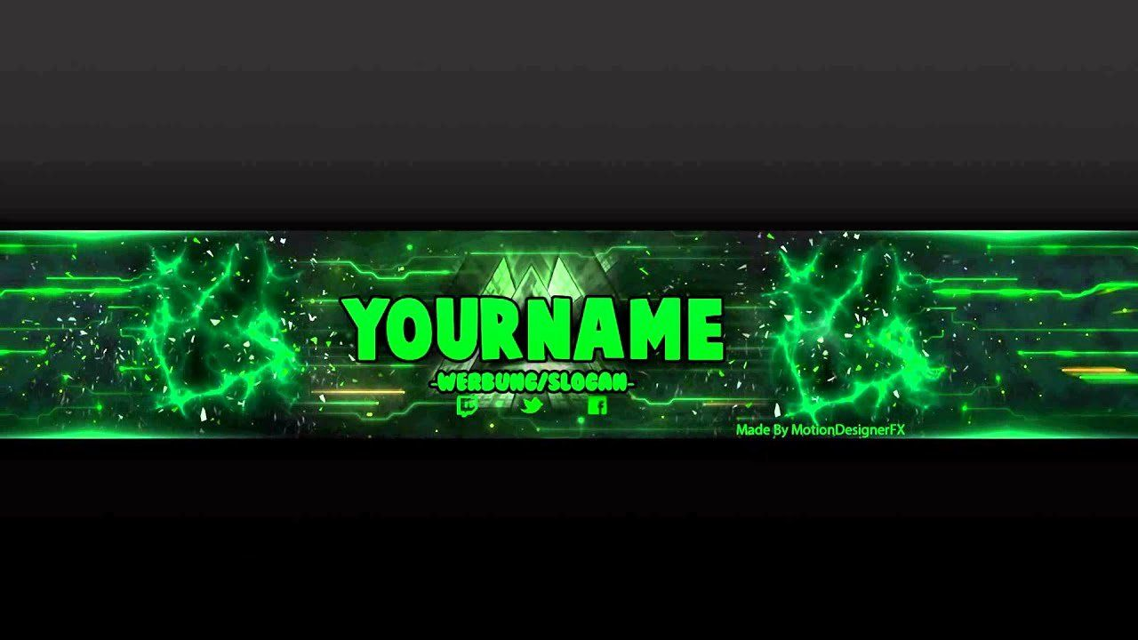 Youtube Banner Template Psd Free New Youtube Banner Template Green Psd Shop In 2020 Youtube Banner Template Banner Template Photoshop Youtube Banners