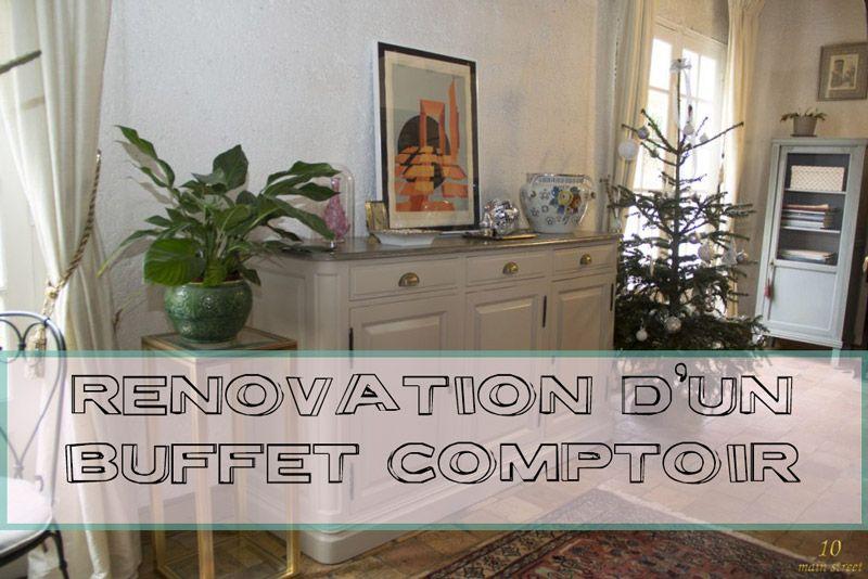 Rénovation d\u0027un buffet comptoir abîmé par des années à l\u0027extérieur