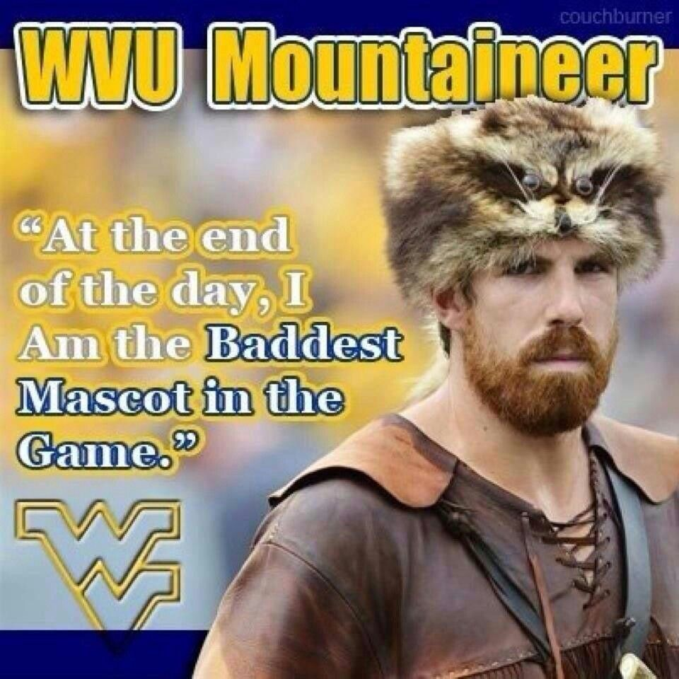 WVU Mountaineer, by far the sexiest mascot in college football! #wvumountaineers