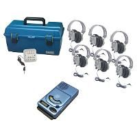 6-Person CD/USB/MP3 Listening Center with Plastic Case - SC-7V Headphones