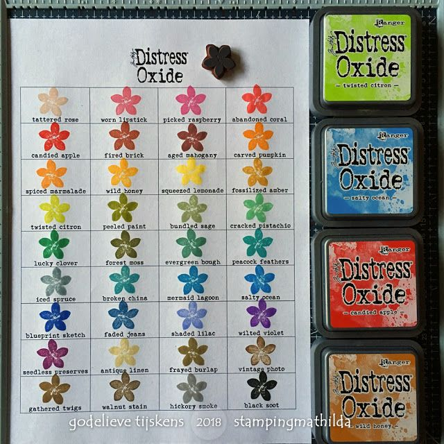 Stampingmathilda Distress Oxide Color Chart Copic Marker