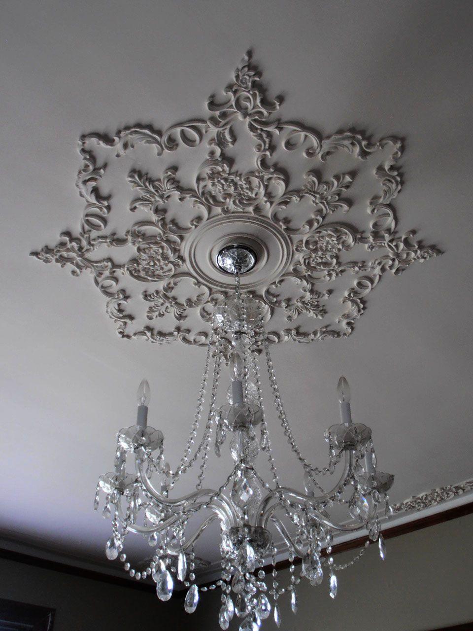 Custom Ceiling Medallion By Renaissanceornamental Com Ceiling Medallions Victorian Ceiling Medallions Home Ceiling