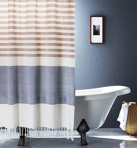 Karla Copper Shower Curtain Reviews Blue Shower Curtains