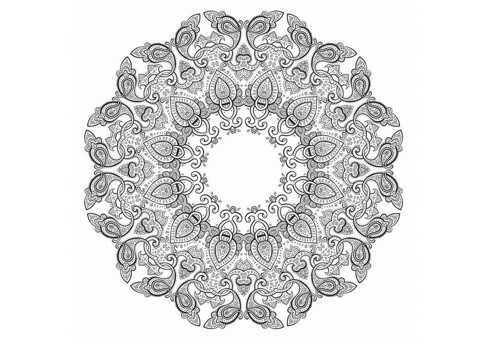 Coloriage anti stress et mandala gratuits pour adulte color mandalas mandala coloring pages - Mandalas a colorier gratuit ...