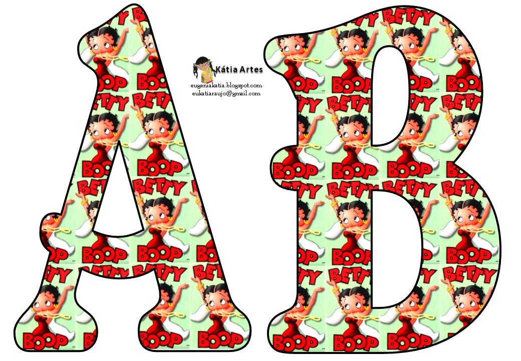KATIA ARTES - BLOG DE LETRAS PERSONALIZADAS E ALGUMAS COISINHAS: Alfabeto betty boop