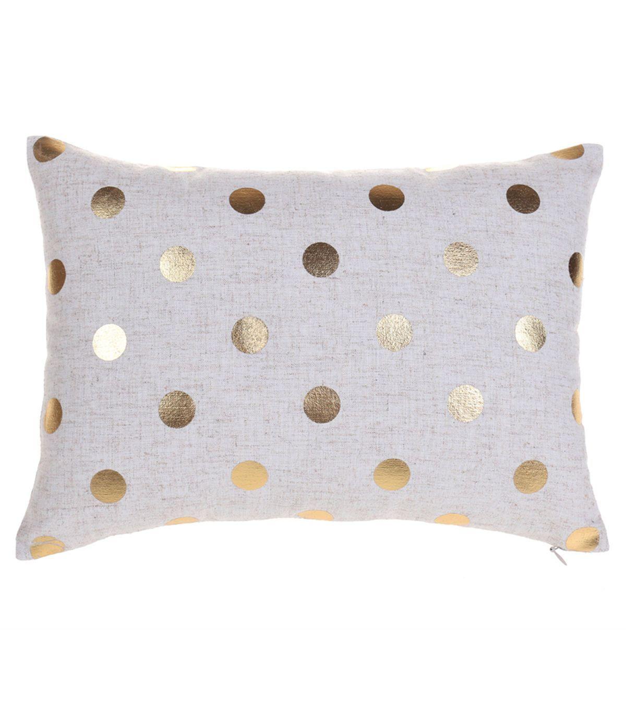 In The Garden Linen Cotton Bolster Pillow Gold Dot Joann Jo Ann Gold Pillows Pillows Bolster Pillow