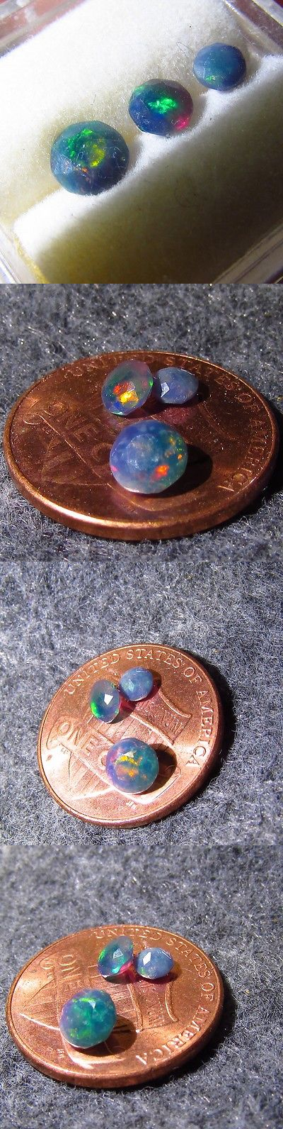 Other Opals 3826: 0.57Ct Three Top Gem Ethiopian Welo Black Crystal Opal Gemstones Free Shipping BUY IT NOW ONLY: $134.1