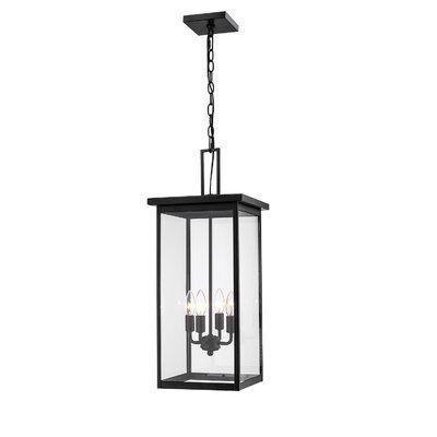 Charlton Home Elmhur 4 Light Outdoor Hanging Lantern Fixture