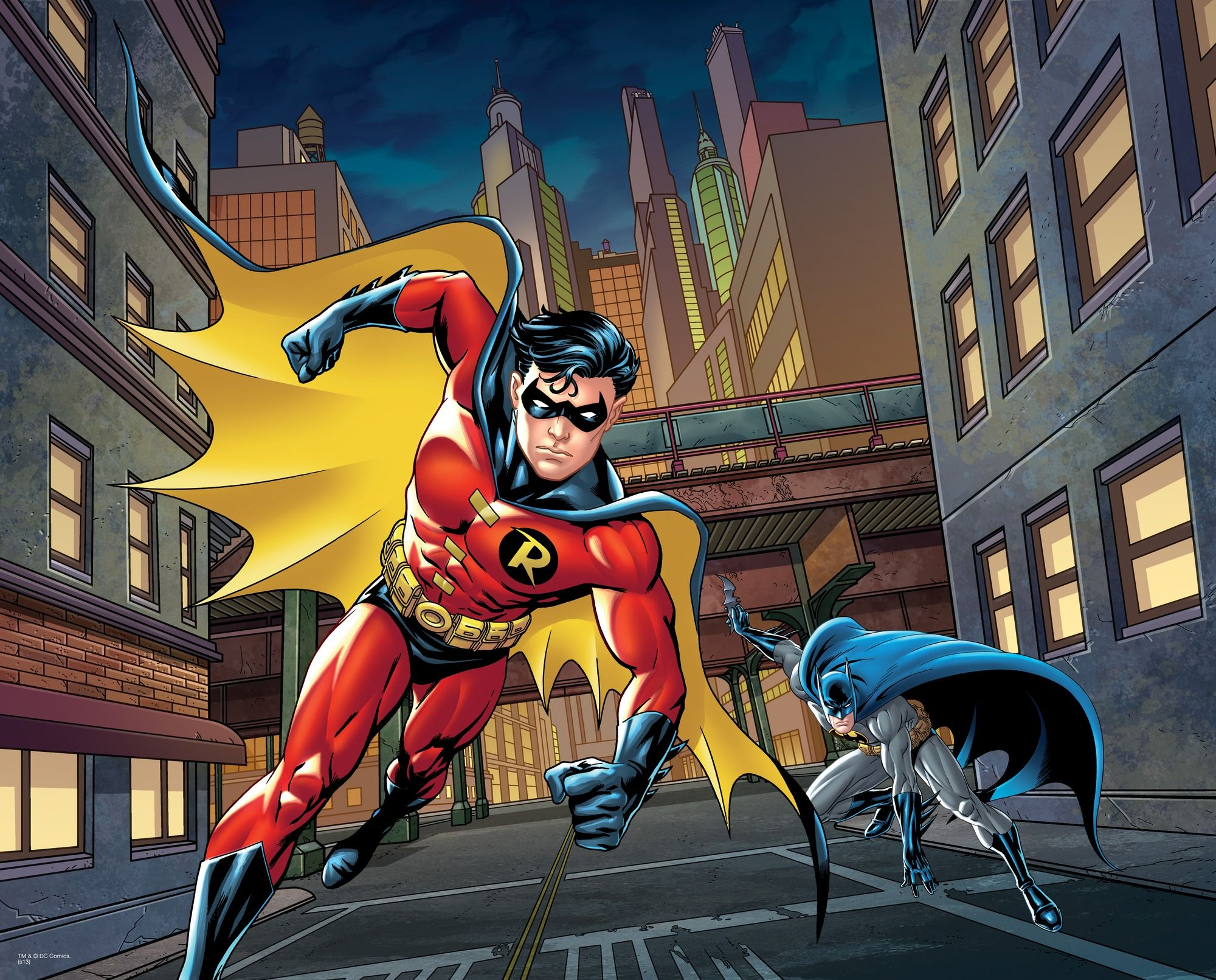 Best Dc Comics Batman And Robin Street Scene Wall Mural Dc 640 x 480