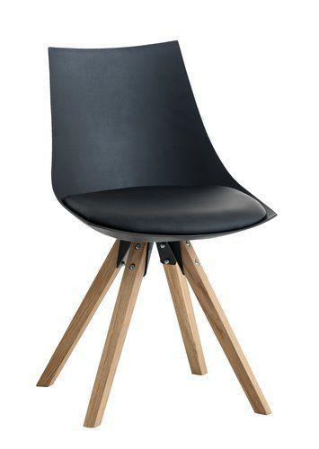 Eetkamerstoel Ore Zwart Lederlook Eiken Jysk Decor Chair Kids Room