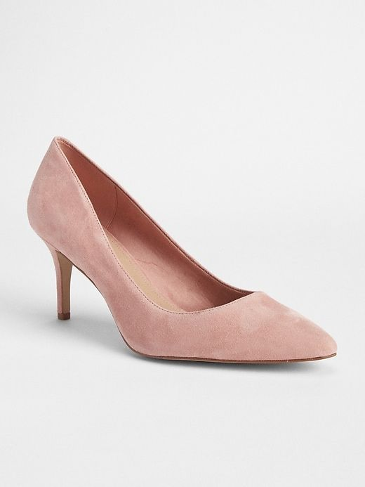 Gap Women s Classic Pumps In Suede Dusty Rose Pink  4d7a03b8b9