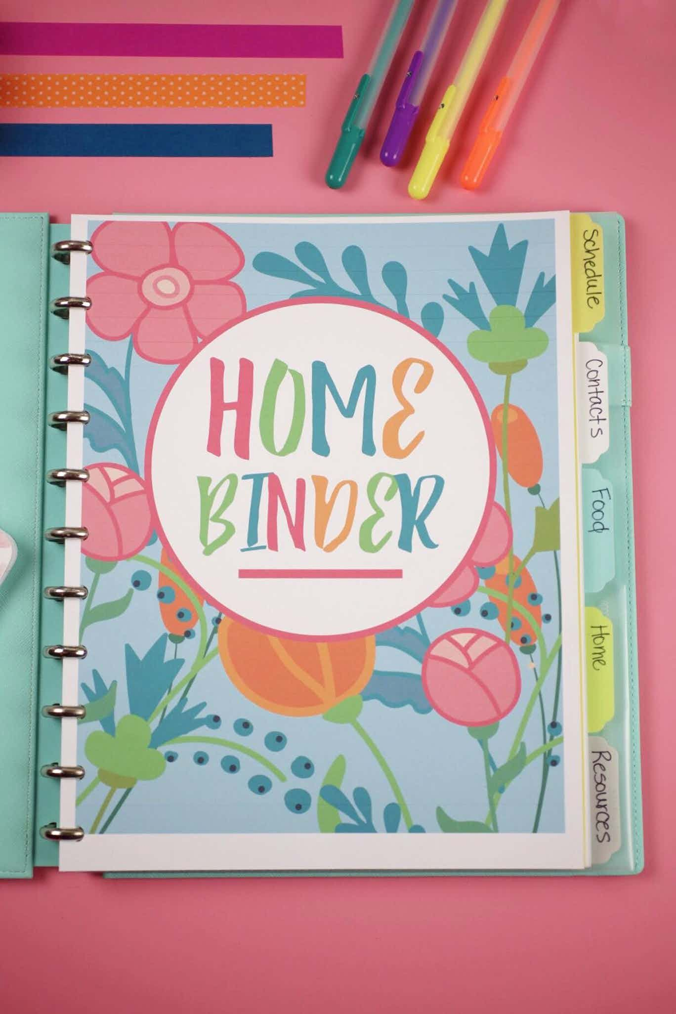 Organizing Mom With A Printable Home Planner